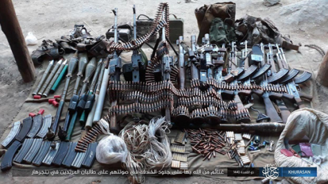 Weapons and ammunition seized by ISIS operatives in the Wadi Hasar area (Telegram, July 12, 2019)