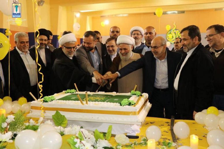 Hezbollah's Deputy Secretary-General Sheikh Naim Qassem at the ceremony of the 26th anniversary of establishing the Al-Mahdi School network (Facebook page of the Al-Mahdi school in Mashghara, April 18, 2019)