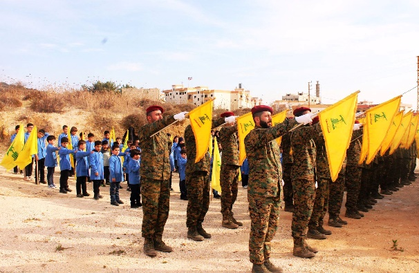 Photos from the Shahid Day, in the participation of the students of the Al-Mahdi school in the village of Al-Qatrani. The students are shown holding Hezbollah flags and photos of shahids (Facebook page of Fatima Baalbaki, November 15, 2016).