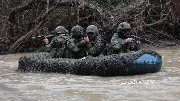 Hezbollah's al-Abbas Troops operatives (pictures from Hezbollah's combat information unit, retweeted July 13 and 15, 2019).