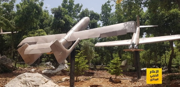 Pictures of Hezbollah UAVs exhibited in the Mleeta Museum in south Lebanon (lebanon24 website, August 10, 2019).