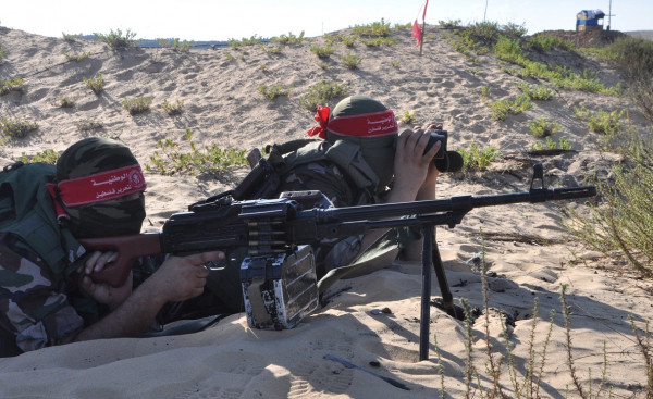 DFLP military win exercise on the Gaza Strip border (Dunia al-Watan, July 16, 2019).