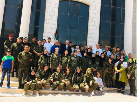 Fatah campers wear military uniforms (Facebook page of the Shabiba Committee in high schools, Fatah branch in Tulkarm, July 4, 2019).