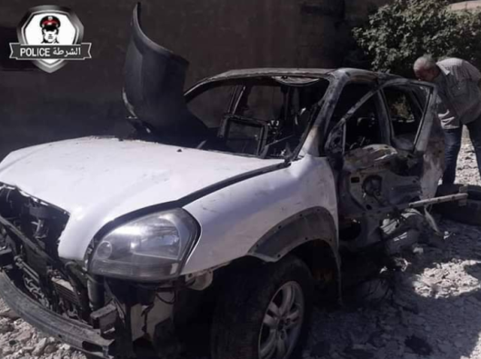 Iyad Dayoub's vehicle (Khotwa, July 22, 2019)