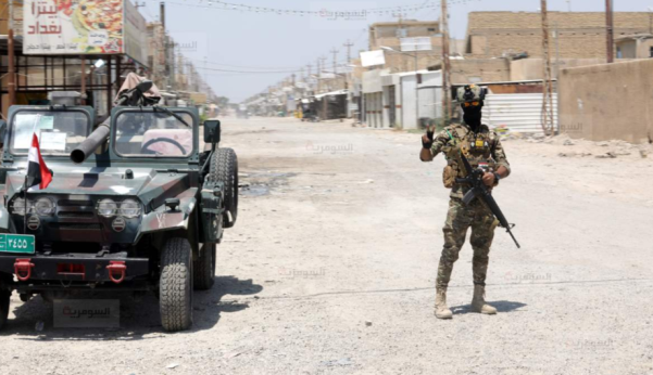 An Iraqi soldier near a checkpoint in the Tarmiyah area (Al-Sumaria, July 20, 2019).