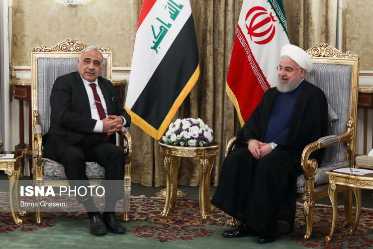 The meeting between Iraq's prime minister and Iran's president ( ISNA, July 22, 2019).