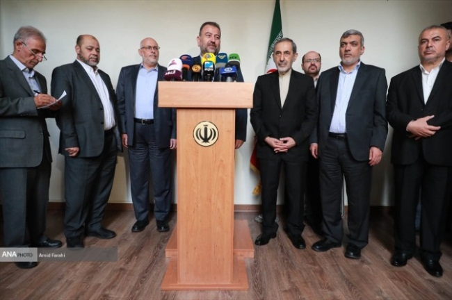 The Hamas delegation meets with Ali-Akbar Velayati, advisor to the supreme leader for international affairs (ANA News in Parsi, July 23, 2019).
