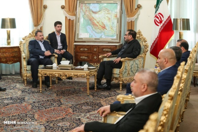 The delegation meets with Ali Shamkhani, secretary of the supreme national security council (Mehr News Agency in English, July 23, 2019).