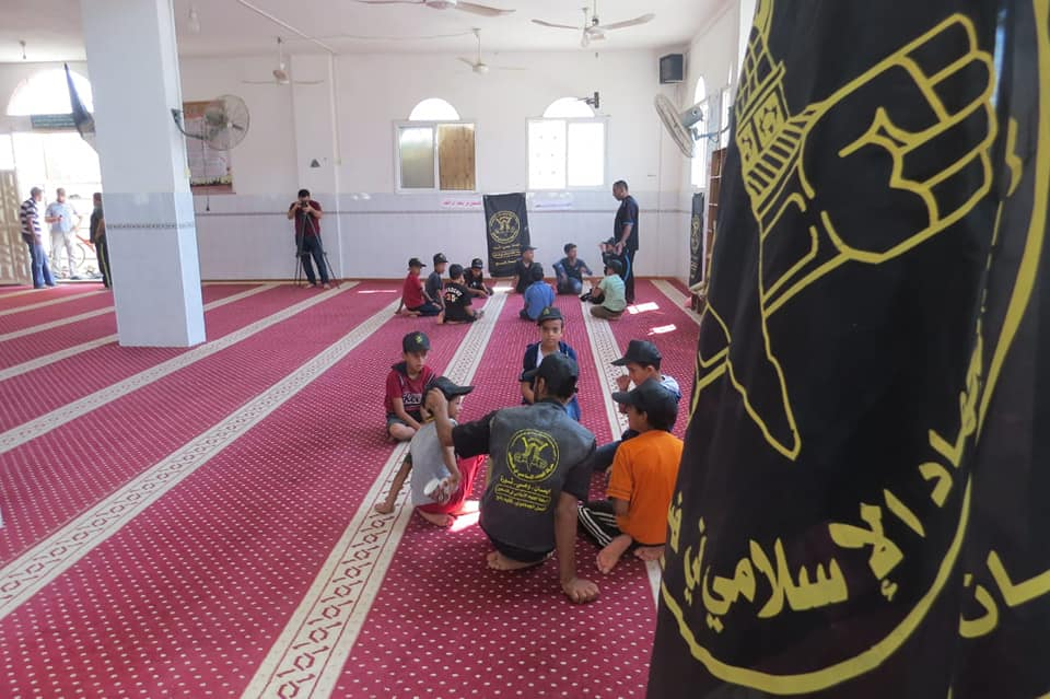 A summer camp activity held in a mosque (PIJ in Rafah Facebook page, July 28, 2019).