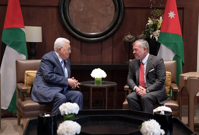 Mahmoud Abbas meets in Amman with the king of Jordan (Mahmoud Abbas' Facebook page, July 24, 2019).