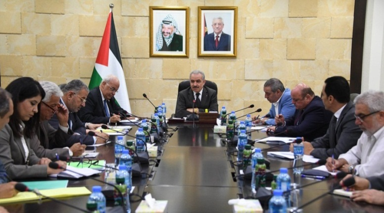 Muhammad Shtayyeh holds a meeting to discuss legal avenues to cope with Israel's withholding of tax revenues (Wafa, July 28, 2019).