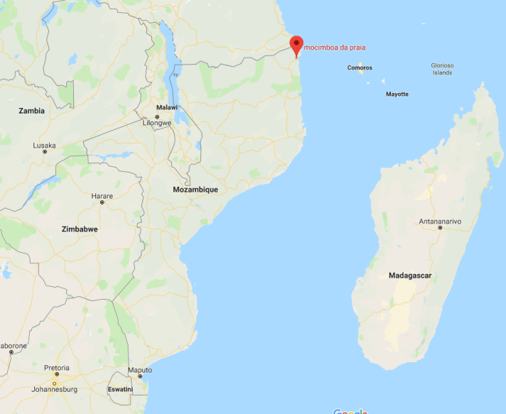 Mocimboa de Praia, in northeastern Mozambique (Google Maps)