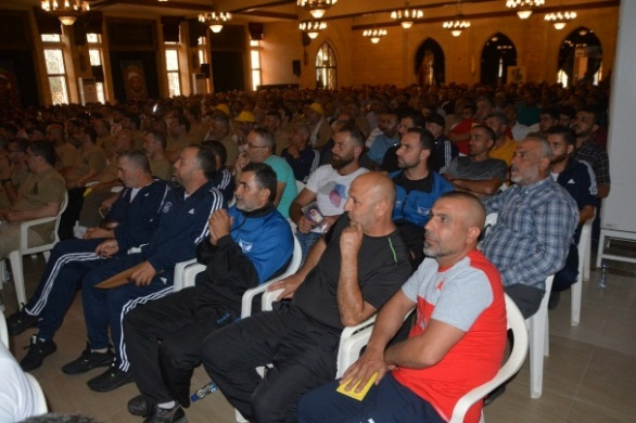 Representatives of the Sports Mobilization who attended the ceremony (Facebook page of the Rassed network, June 28, 2019).