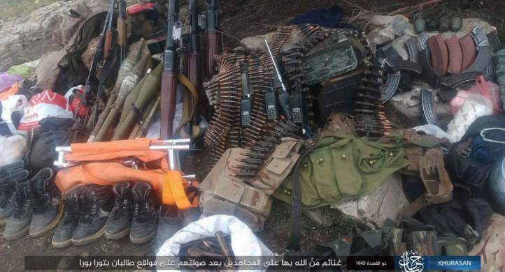Weapons and ammunition that were seized.