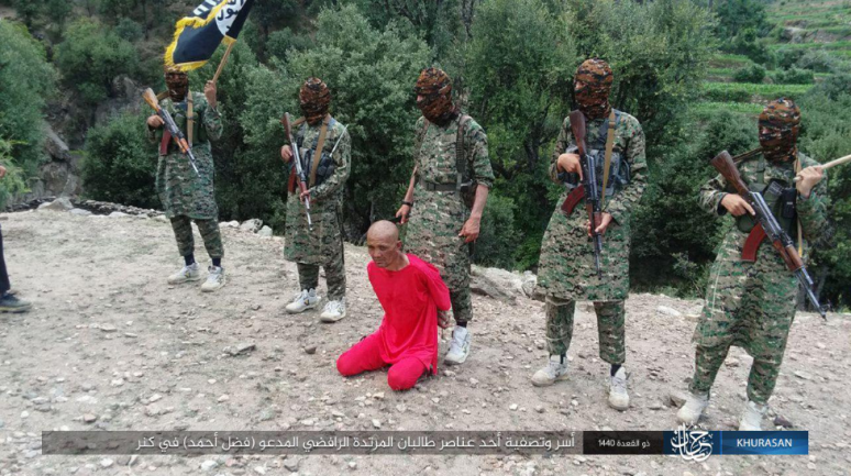 Execution of a Taliban operative by ISIS operatives (Telegram, August 1, 2019)
