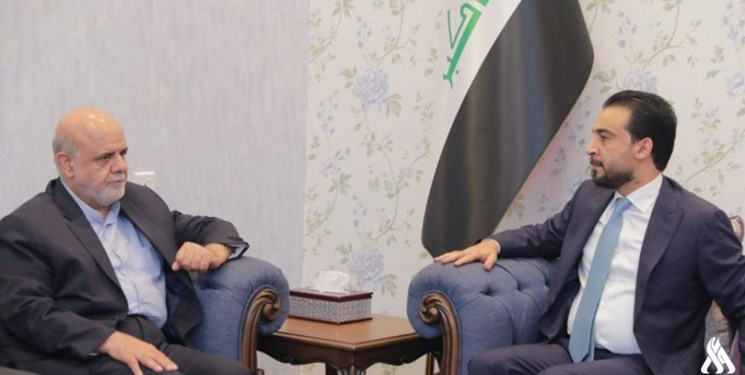 The meeting between the Iranian ambassador to Baghdad with the speaker of the Iraqi parliament (Fars, August 5, 2019).