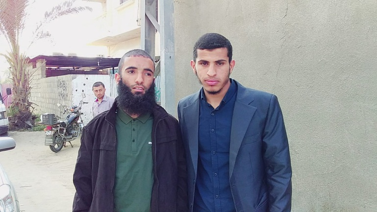 Two of the terrorists who carried out the attack: Abdallah al-Hamayda (Abu Musab) (left) and Ahmed al-Adini (Facebook page of Ahmed al-Adini, April 17, 2019).