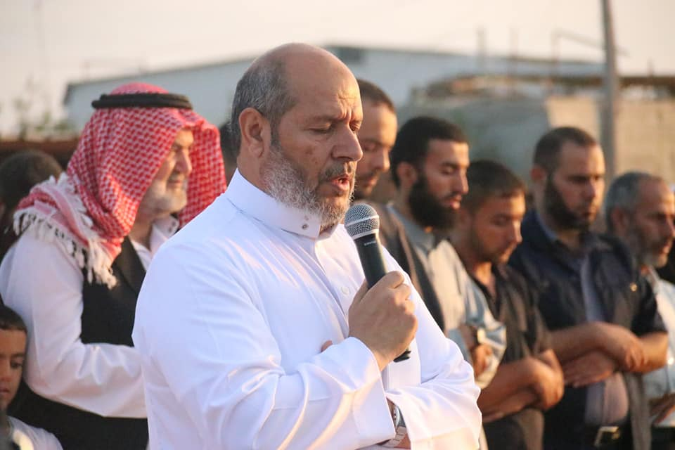 Khalil al-Haya, a member of Hamas' political bureau, during an Eid al-Adha event (Supreme National Authority Facebook page, August 11, 2019).