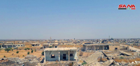The village of Sukayk taken over by the Syrian army.