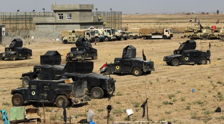 Vehicles of the Iraqi security forces operating in the third phase of Operation Will to Victory (Al-Sumaria, August 9, 2019)