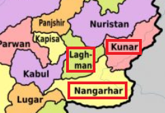 The provinces of Nangarhar, Kunar and Laghman (The Kabul Times, June 26, 2019)
