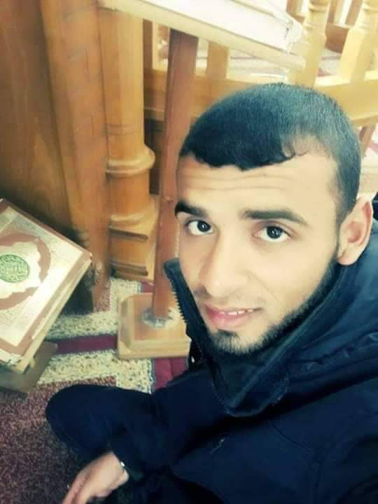 Hani Abu Salah in a mosque (Twitter account of Abu Rida from Gaza, August 1, 2019).
