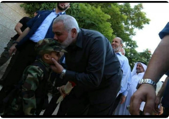 Isma'il Haniyeh visits the families of the terrorists who were killed (al-Aqsa, August 18, 2019)