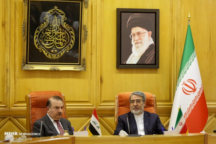 The meeting between the Iranian and Iraqi ministers of interior in Tehran (Mehr, August 17, 2019).