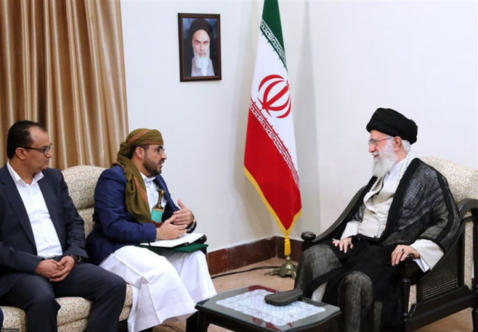 The meeting between the Supreme Leader of Iran and the Houthi delegation (Tasnim, August 13, 2019).