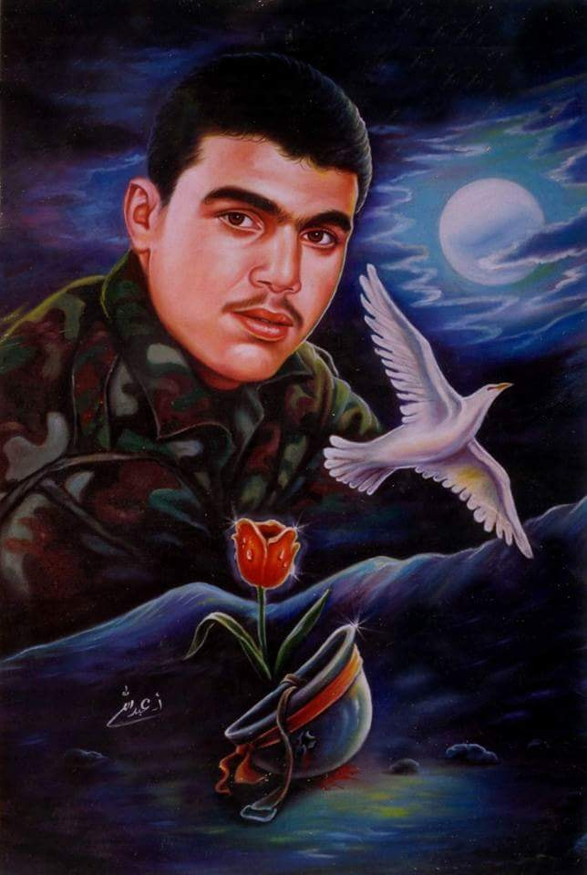 Portrait of the shahid Hadi Nasrallah, son of Hezbollah leader Hassan Nasrallah, who was killed in a clash with an IDF force in southern Lebanon in September 1997 (Ahmad Abdallah's Facebook page)