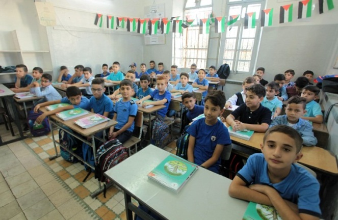 The first day of school in Hebron (Shehab Facebook page, August 25, 2019).