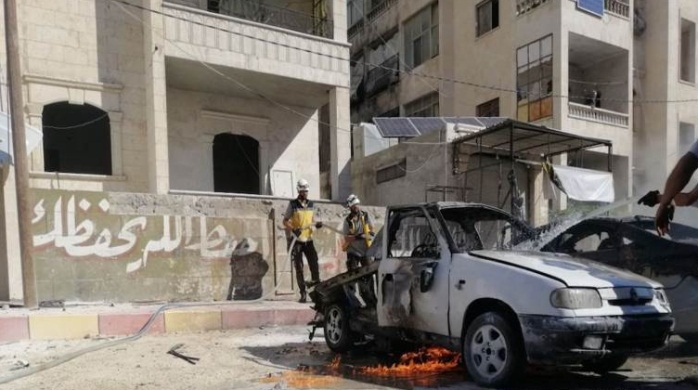 The car which was damaged in the explosion (Al-Modon, a Lebanese news website, August 22, 2019)