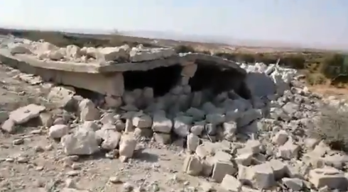 Ruins of the building attacked by the US aircraft (sadikabbara Twitter account, affiliated with the rebel organizations, August 31, 2019)