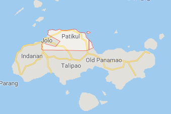 The area of Patikul, on Jolo Island, in the southern Philippines, where the IED was activated (Google Maps)