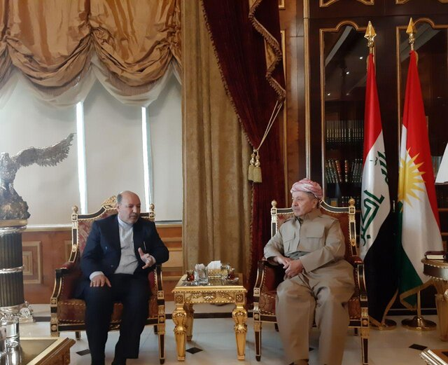 The meeting of the Iranian consul with the Kurdish leader, Masoud Barzani (ISNA, August 31, 2019)