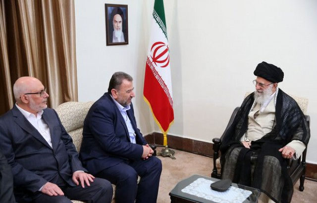 The meeting between the Hamas delegation and the Supreme Leader in July 2019 (Tasnim, July 22, 2019).