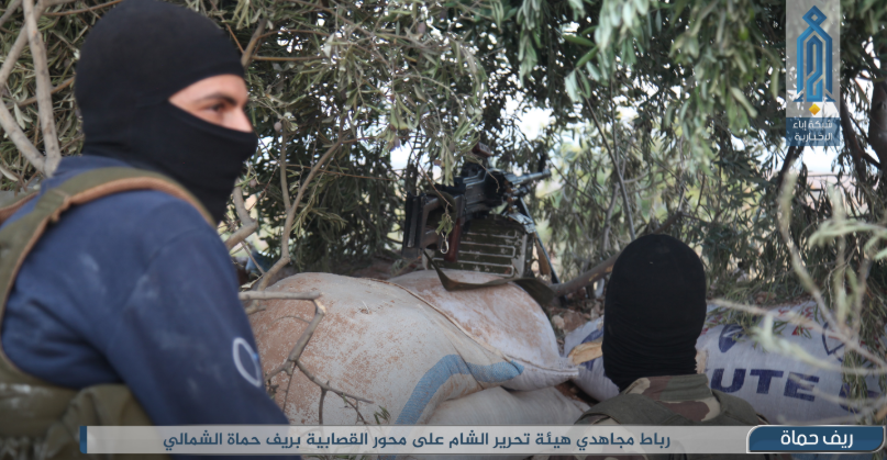 Operatives of the Headquarters for the Liberation of Al-Sham at a combat position (Ibaa, September 8, 2019).