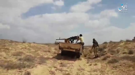 ISIS operatives shooting south of Sheikh Zuweid (Telegram, September 7, 2019)