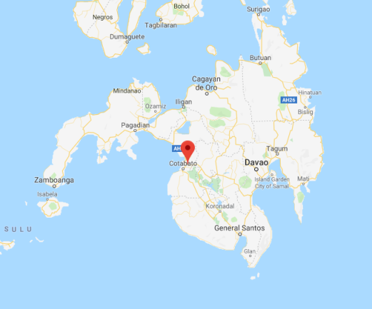 The area of Sultan Kudarat in the southern Philippines (Google Maps)