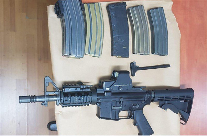Weapon found by the Israeli security forces in one of the villages in the Hebron area (Twitter account of the IDF Spokesperson's Office, September 12, 2019).