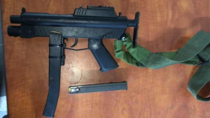 Illegal weapon found by the Israeli security forces in the Jenin area (Twitter account of the IDF Spokesperson's Office, September 16, 2019)
