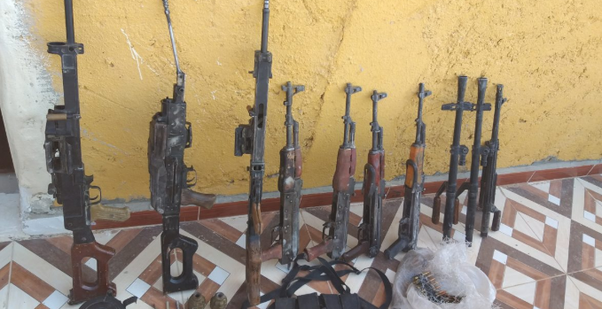 Weapons found in the possession of four ISIS operatives southeast of Al-Mayadeen (SDF Press, September 14, 2019)