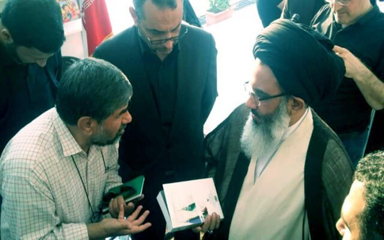 The representative of the Supreme Leader during a visit to the Damascus book fair ( ISNA, September 17, 2019)