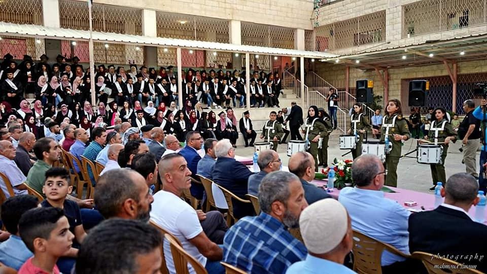Ceremony of high school and university graduates in Al-Eizariya (Facebook page of Sami Abu Ghaliya, Fatah deputy secretary in Al-Eizariya, September 11, 2019)