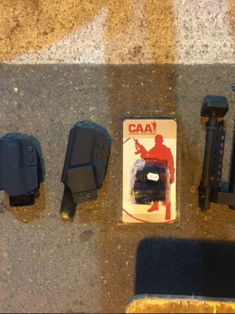 Equipment seized in the vehicle at the Tarqumiya Crossing (Israel's Ministry of Defense Twitter account, September 19, 2019)