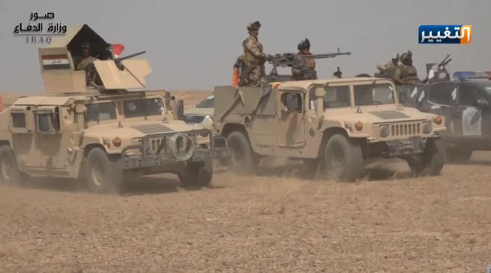 Iraqi army forces during the operation in the Al-Anbar Province (Iraqi Ministry of Defense, September 21, 2019).