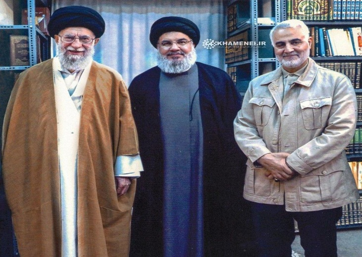 The Supreme Leader of Iran, the secretary general of Hezbollah and the commander of the Qods Force (website of the Supreme Leader, September 25, 2019).