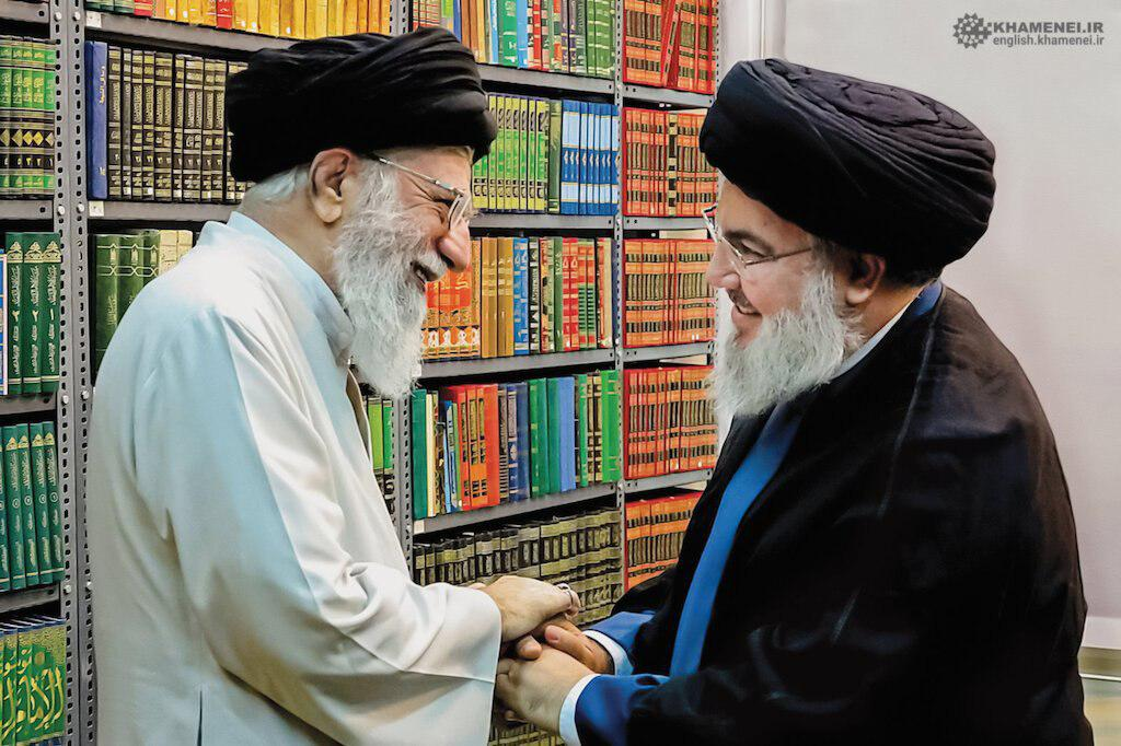 The Supreme Leader of Iran and secretary general of Hezbollah (website of the Supreme Leader, October 1, 2019)