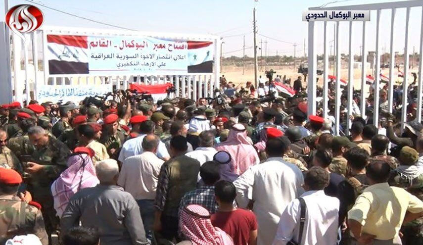 The opening of the Syrian-Iraqi border crossing (al-Alam, September 30, 2019).