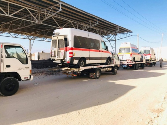 Medical assistance arriving in the Gaza Strip (Twitter account of Issam Yusuf, October 4, 2019).